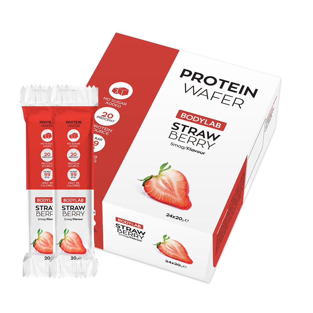 Bodylab Protein Wafer (24x20 g) - Strawberry